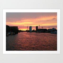 Spree Sunset I Art Print