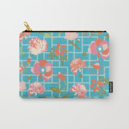 Chinoiserie Geofloral Carry-All Pouch