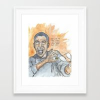 oitnb Framed Art Prints featuring Poussey OITNB by Ashley Rowe
