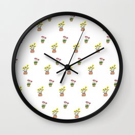 Two Peas in a Pot Wall Clock
