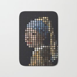 Girl with a Pearl Earring Bath Mat