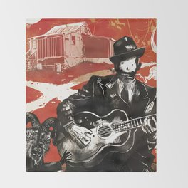 Delta Blues - Robert Johnson & Friends Throw Blanket