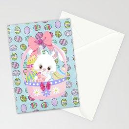 Easter Bunny Easter Basket Stationery Cards