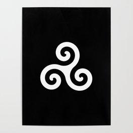 Triskele 10 -triskelion,triquètre,triscèle,spiral,celtic,Trisquelión,rotational Poster