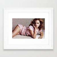 emma watson Framed Art Prints featuring Emma Watson by Susan Lewis