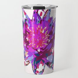 Abstract Painted Lotus Flower Travel Mug