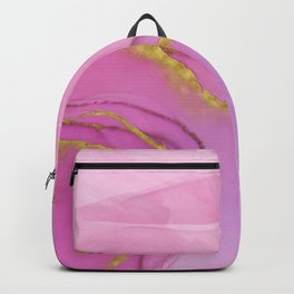Abstract alcohol ink painting - Selina Backpack