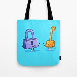 The key and lock (Best friends. Cartoon set) Tote Bag