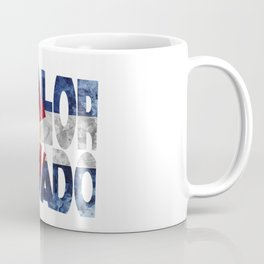 Colorado Typographic Flag Map Art Coffee Mug