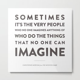 Imagine - Quotable Series Metal Print