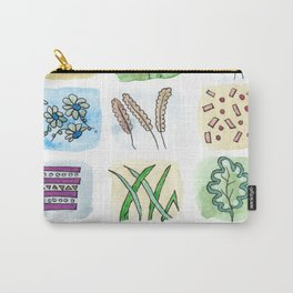 Watercolor and Pen Doodle Plants Carry-All Pouch