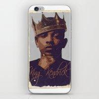 kendrick lamar iPhone & iPod Skins featuring King Kendrick by GerritakaJey