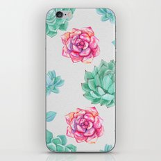Winter Wildflowers & Succulents iPhone & iPod Skin