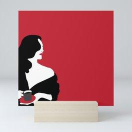 Red woman n1 Mini Art Print
