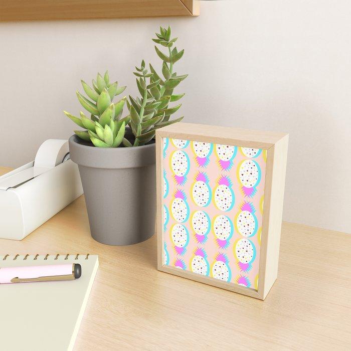 Pastel pineapples Framed Mini Art Print