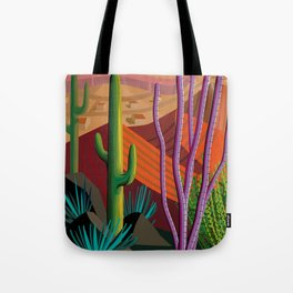 Cactus on Mountaintop Tote Bag