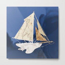 Sailboat Blue II Metal Print
