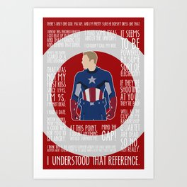 The First Avenger Art Print