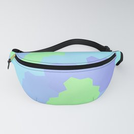 Abstract Geometric Design (Pastel Blues And Greens) Fanny Pack
