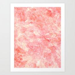 Art Deco Pink Art Print