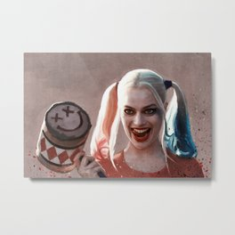 Harley Quinn The Homicidal Maniac - Suicide Squad Metal Print