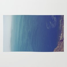 Sea green, ocean blue Rug
