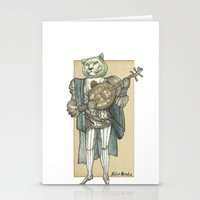 banjo Stationery Cards featuring Banjo Lion by Felis Simha
