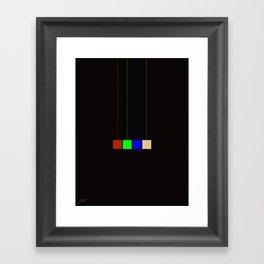 hanging cmyk  Framed Art Print