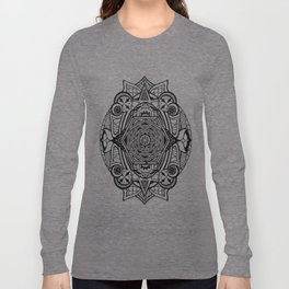 Eye of the Octagon Mandala Print Long Sleeve T-shirt