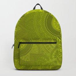 """""""Green Lemon Pattern Mandala Polka Dots"""" Backpack"""
