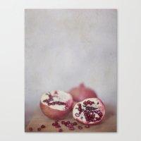 pomegranate Canvas Prints featuring Pomegranate by Kim Bajorek