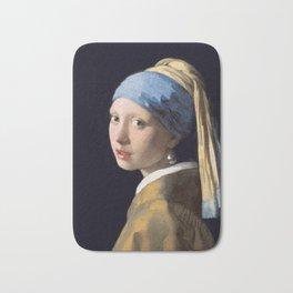 Girl with a Pearl Earring, 1665 Bath Mat