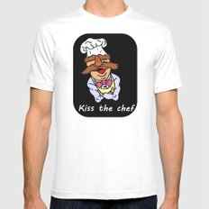 Bork Bork White SMALL Mens Fitted Tee