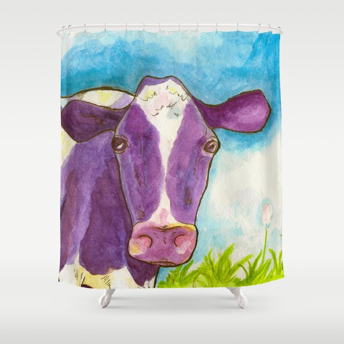 Purple Cow Shower Curtain