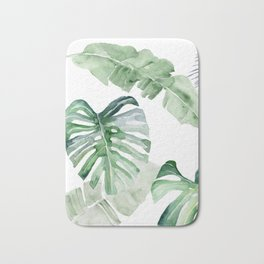 Monstera and Banana Leaf Bath Mat