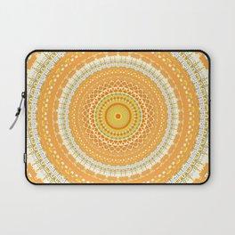 Marigold Orange Mandala Design Laptop Sleeve