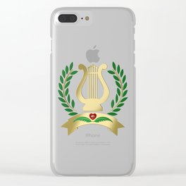 Golden lyre Clear iPhone Case