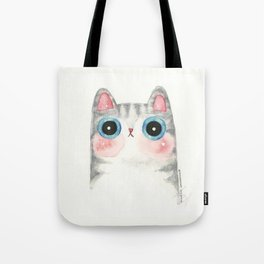 The Grey Cat Tote Bag