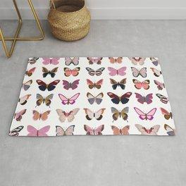 Pink Butterflies Rug