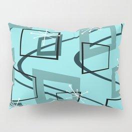Mid Century Modern Minimalism Turquoise Pillow Sham