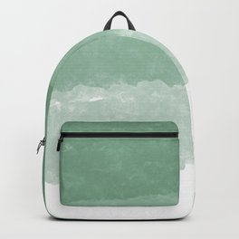 Modern lucite green abstract watercolor ombre pattern Backpack