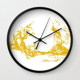 Gold Abstract XII Wall Clock
