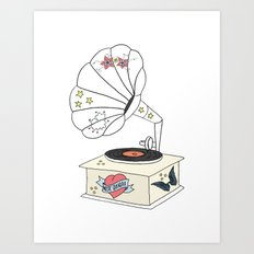 Music grandpa Art Print