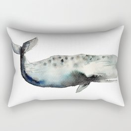 whale- watercolor Rectangular Pillow