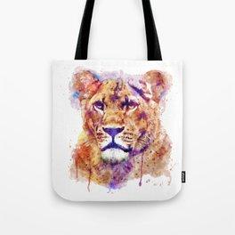 Lioness Head Tote Bag