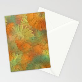Floral Orange-Yellow-Green Stationery Cards