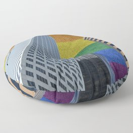 Houston LGBTQ Pride Skyline Floor Pillow