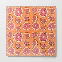 Grapefruit Print Metal Print