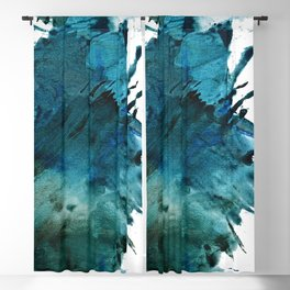 Scenic Route [2]: a pretty, minimal abstract piece in blue and green by Alyssa Hamilton Art Blackout Curtain