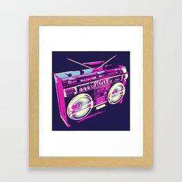 Boombox Pop Art Framed Art Print